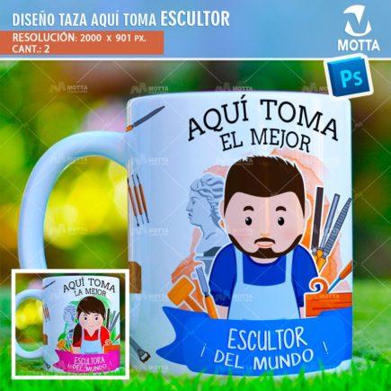 DISEÑOS PARA SUBLIMAR TAZAS AQUÍ TOMA ESCULTOR
