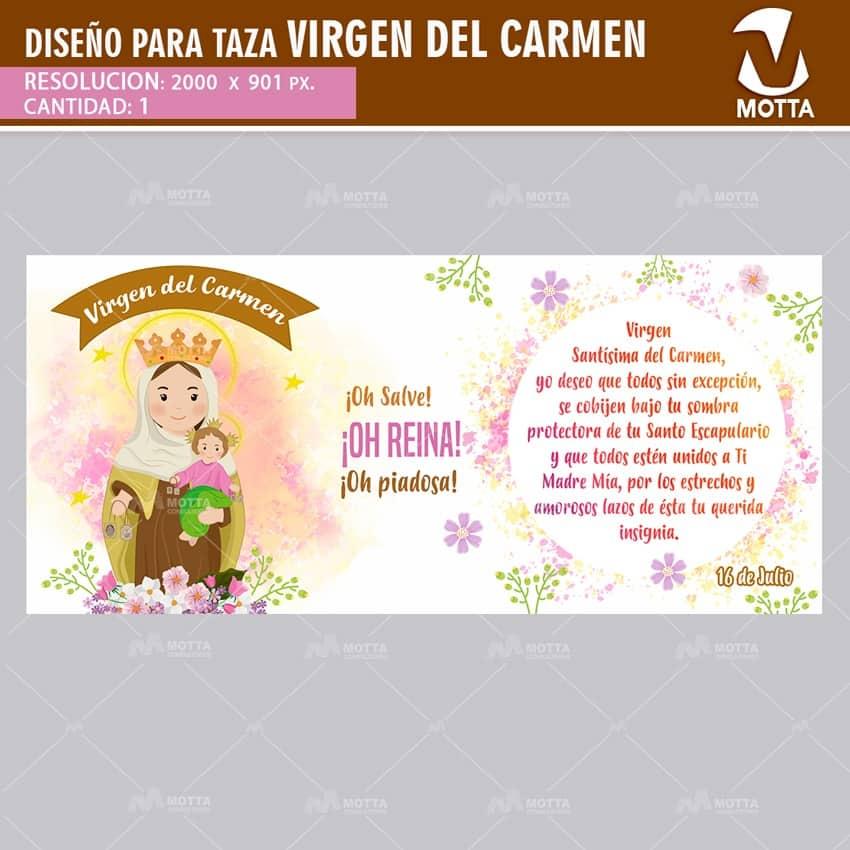 DISEÑO PARA ESTAMPAR TAZA VIRGEN DEL CARMEN