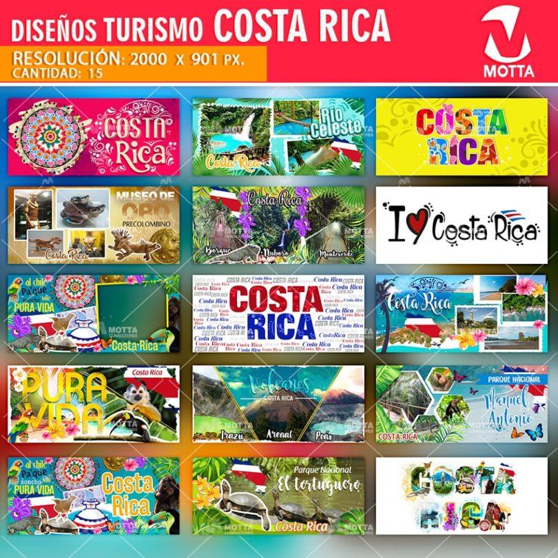 DISEÑOS SUBLIMACIÓN PARA TAZAS TURISMO COSTA RICA