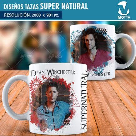 DISEÑOS SUPER NATURAL PARA SUBLIMAR TAZAS | Sobrenatural