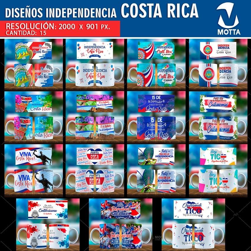 Diseños Fiestas Patrias Costa Rica Para Sublimar Tazas Motta