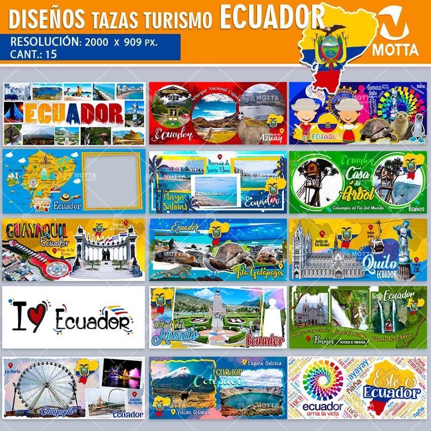 DISEÑOS TURISMO DE ECUADOR PARA SUBLIMAR TAZAS