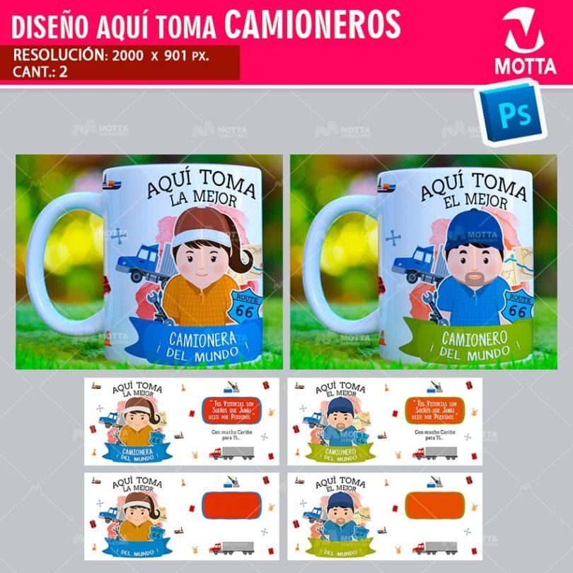 DISEÑOS AQUÍ TOMA CAMIONERO CONDUCTOR CAMIÓN
