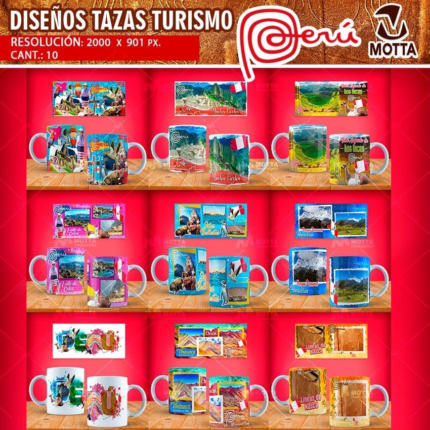 DISEÑOS TURISMO DE PERU PARA ESTAMPAR TAZAS