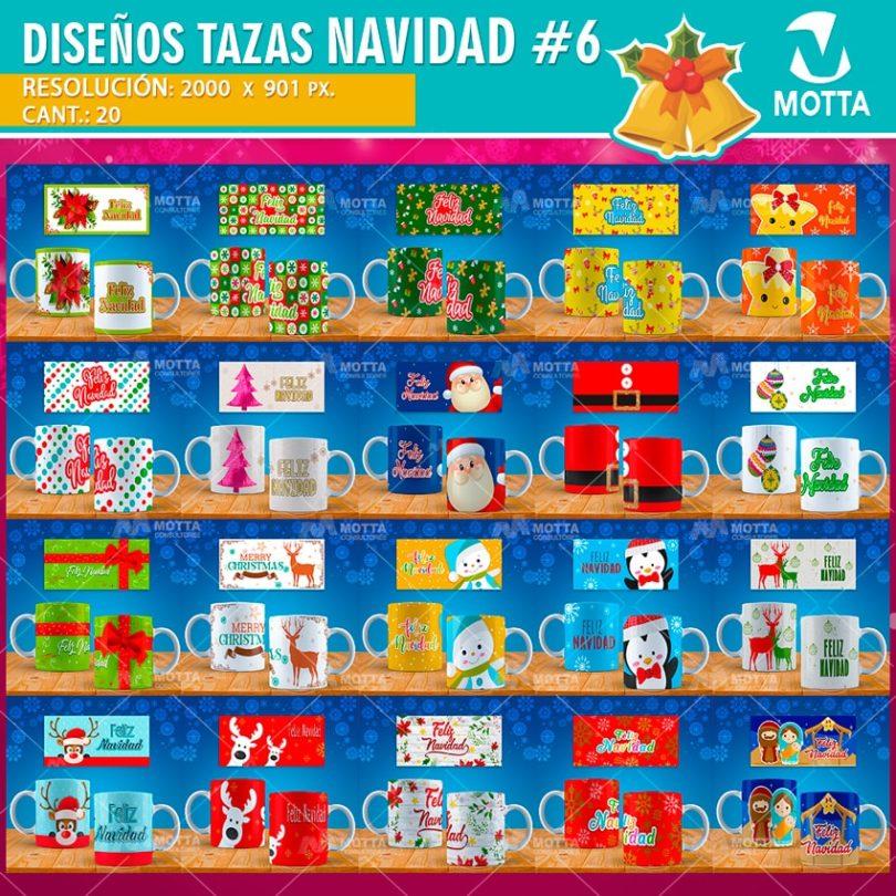 DISEÑOS DE NAVIDAD PARA SUBLIMACION DE TAZAS | PACK 6