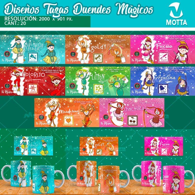 DISEÑOS PARA TAZONES DE DUENDES MÁGICOS