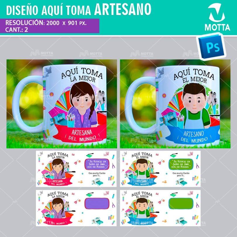 DISEÑOS AQUÍ TOMA ARTESANO MANUALISTA PARA TAZA