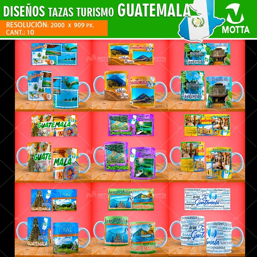 DISEÑOS PARA TAZAS DE TURISMO GUATEMALA PARA SUBLIMAR