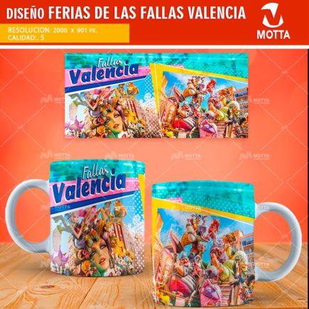 DISEÑOS DE FERIAS DE LAS FALLAS VALENCIA PARA TAZAS