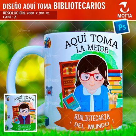 AQUÍ TOMA LA MEJOR BIBLIOTECARIA DISEÑO PARA SUBLIMAR TAZA