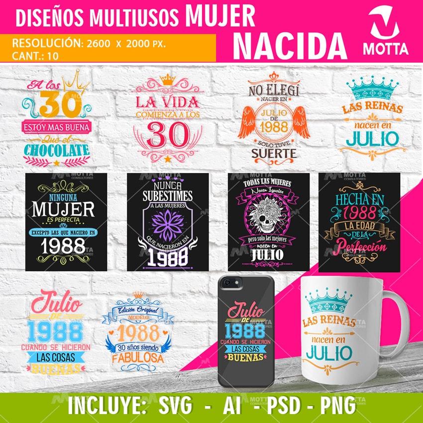 Diseños Para Camisetas De Cumpleaños Para Damas Nacida