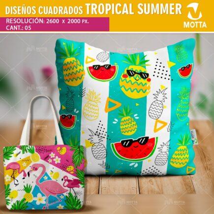 DISEÑOS PARA COJINES Y ALMOHADAS DE TROPICAL SUMMER