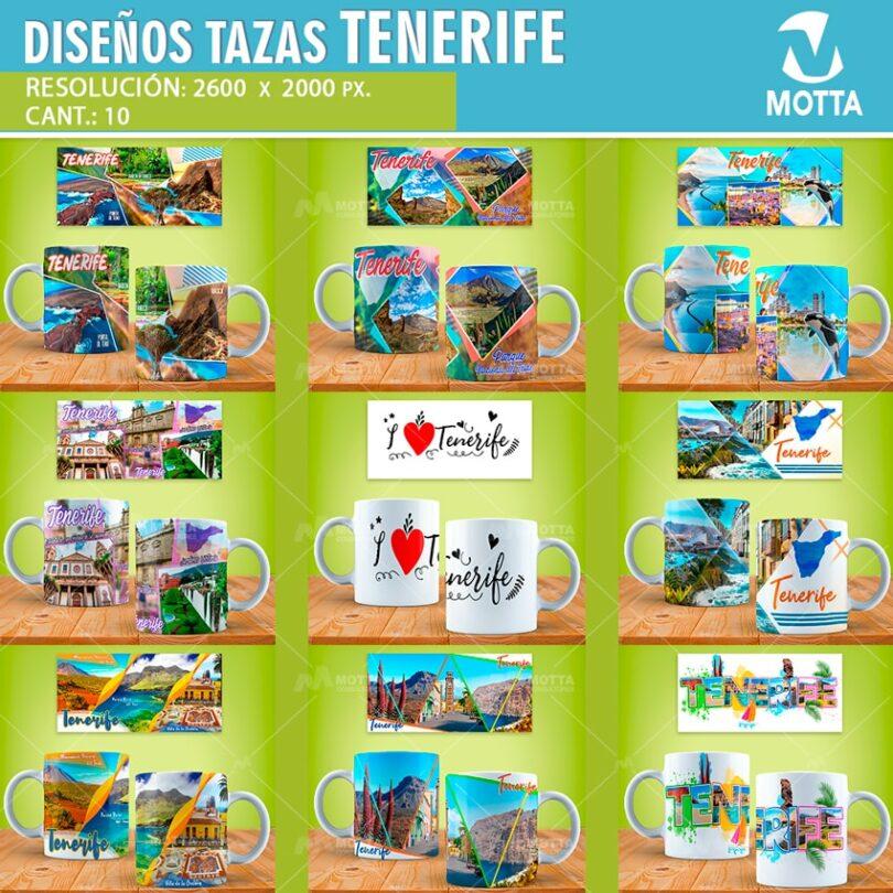 DISEÑOS PARA TAZAS DE TURISMO TENERIFE PARA SUBLIMAR