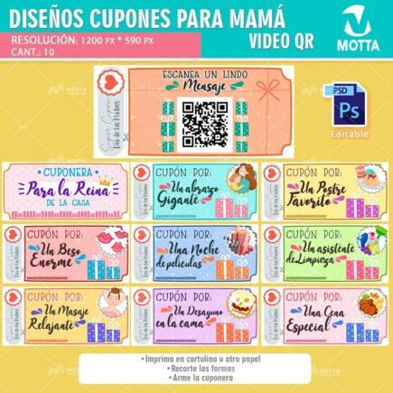 DISEÑOS DE CUPONES DE REGALO PARA DAR A MAMA EN SU DÍA