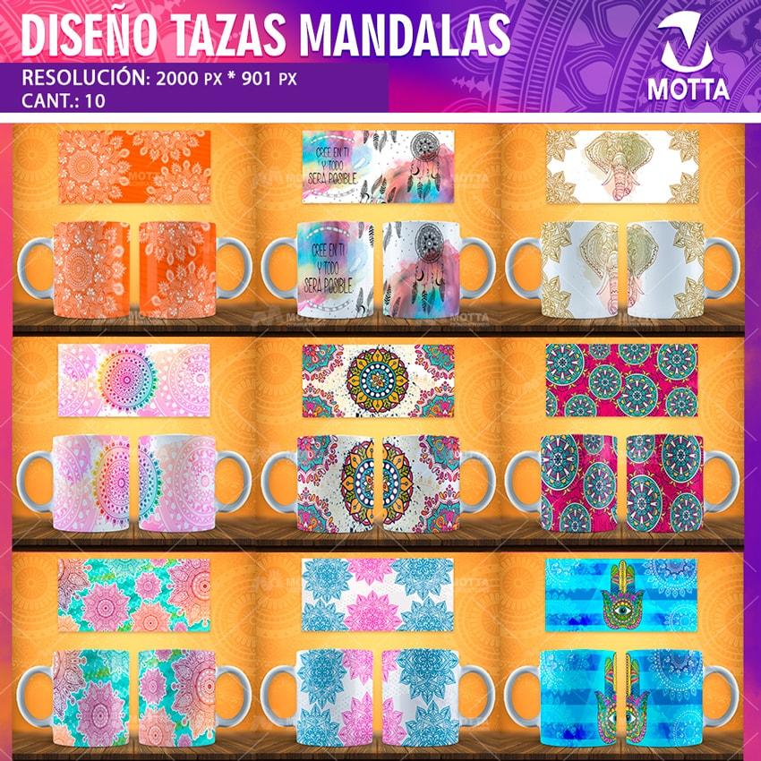 Diseños Para Sublimar Tazas Con Mándalas Mottaconsulta