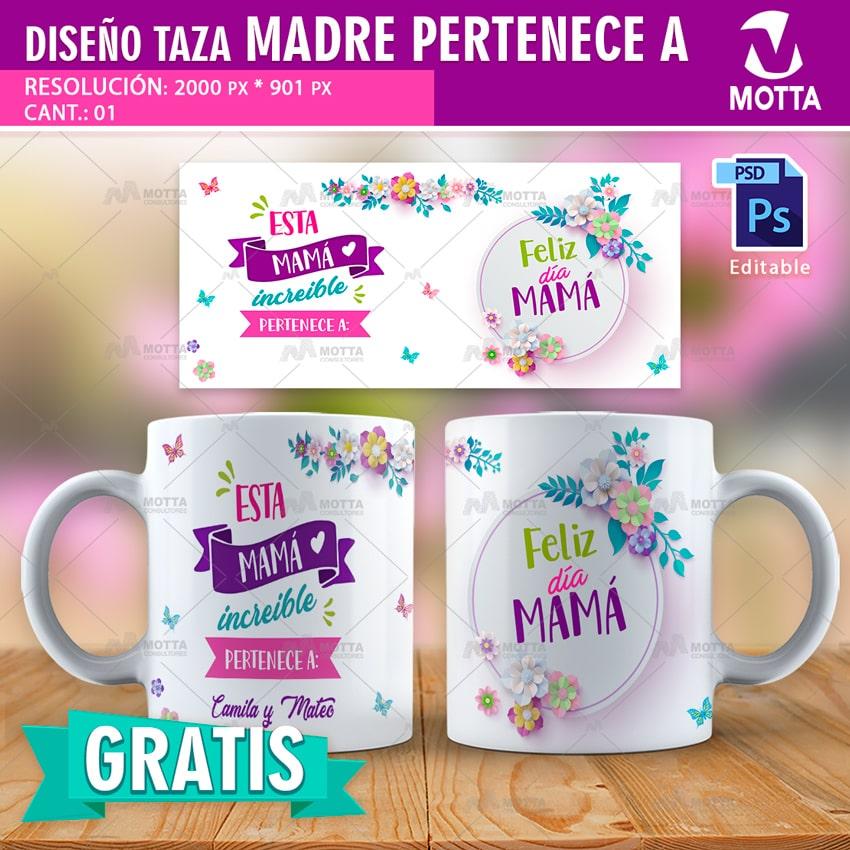 DISEÑO GRATIS DÍA DE LA MADRE PARA SUBLIMAR CAFÉ PARA MAMA