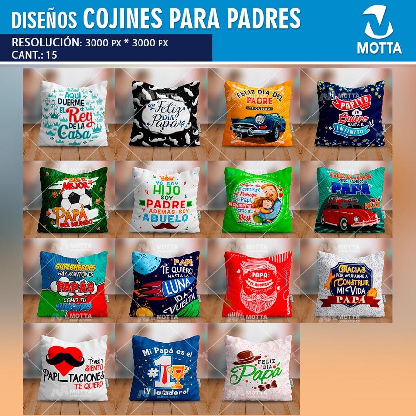 DISEÑOS DE COJINES PARA PAPÁ