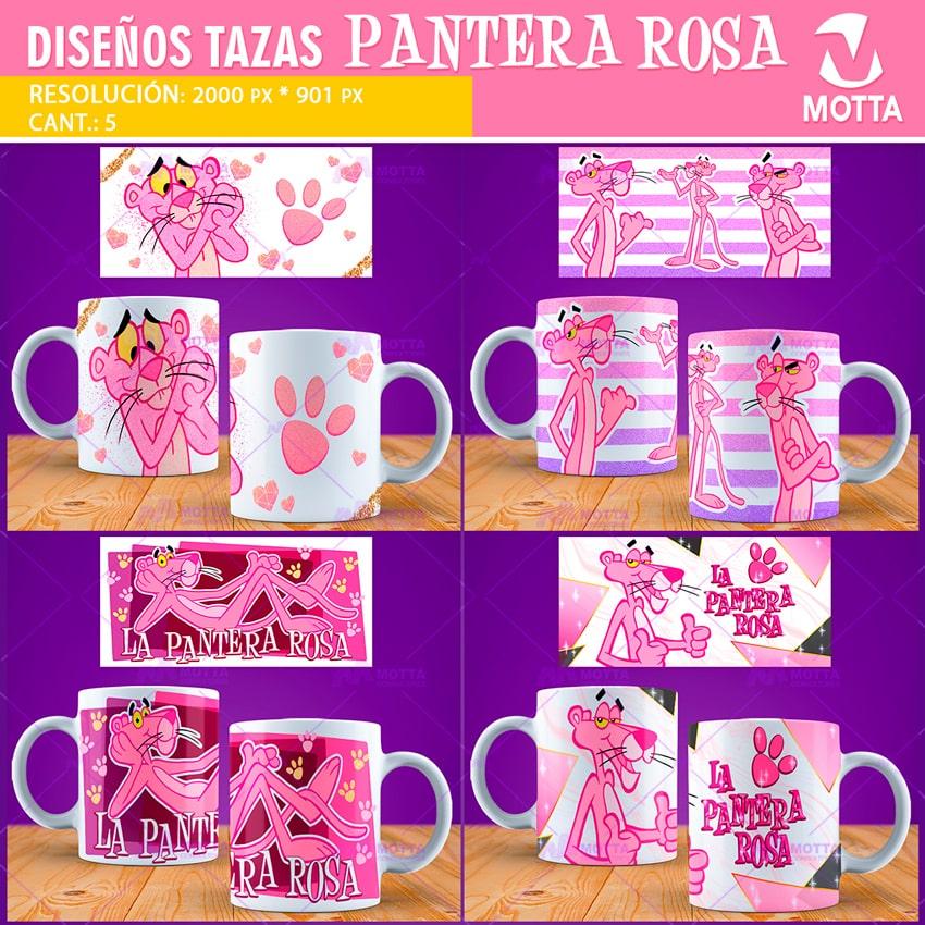 DISEÑOS PARA SUBLIMAR TAZAS DE LA PANTERA ROSA