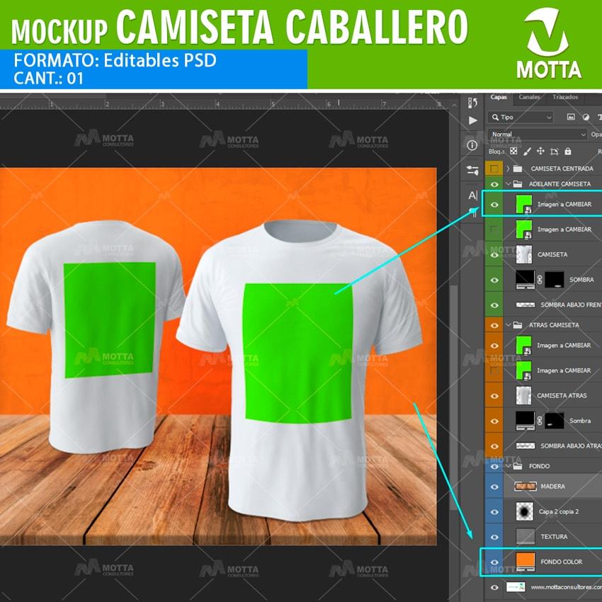 MOCKUP PARA HACER VISTAS PREVIAS DE CAMISETAS DE CABALLERO