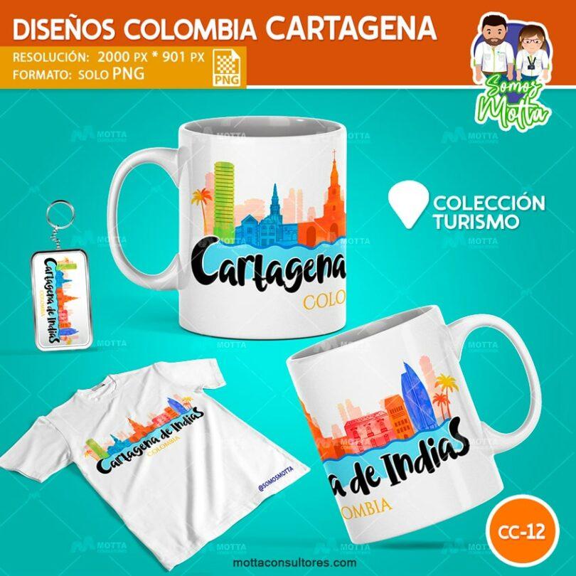 DISEÑOS PARA SUBLIMAR DE CARTAGENA DE INDIAS COLOMBIA