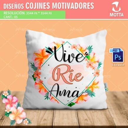Diseños para Cojines Almohadas con MENSAJES DE MOTIVACIÓN