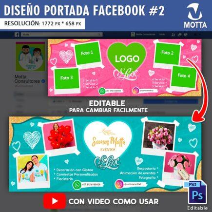 DISEÑO DE PORTADA DE FACEBOOK EDITABLE AMOR | N 2
