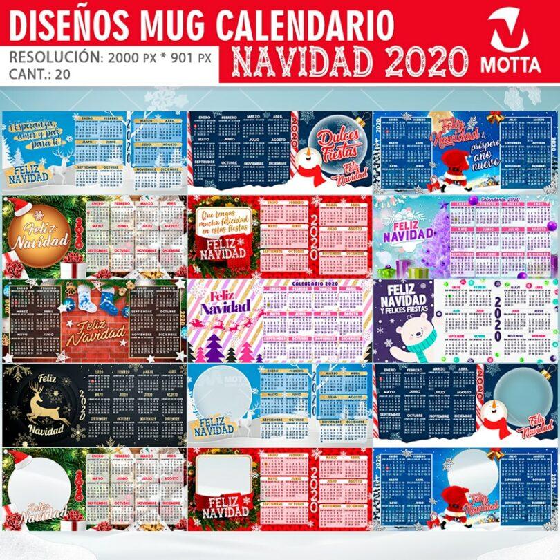 20 DISEÑO TAZA CALENDARIO 2020 PARA SUBLIMAR