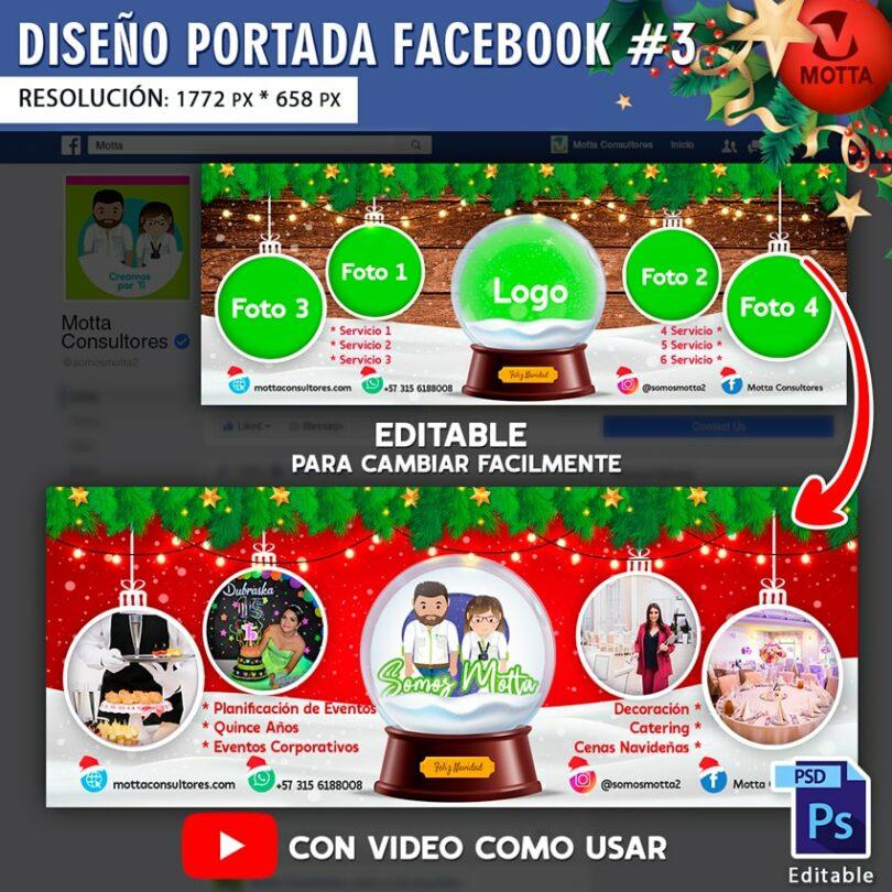DISEÑO DE PORTADA DE FACEBOOK DE NAVIDAD