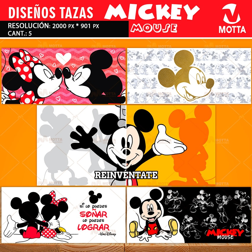 DISEÑOS PARA SUBLIMAR TAZAS DE MICKEY MOUSE