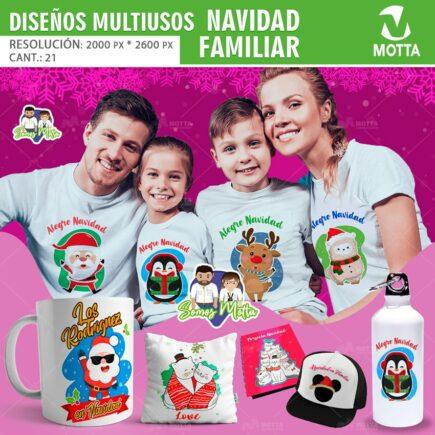 21 DISEÑO PARA CAMISETAS FAMILIARES DE NAVIDAD