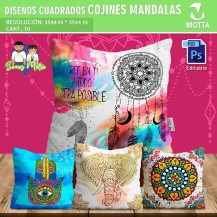 DISEÑOS PARA COJINES Y ALMOHADAS DE MÁNDALAS