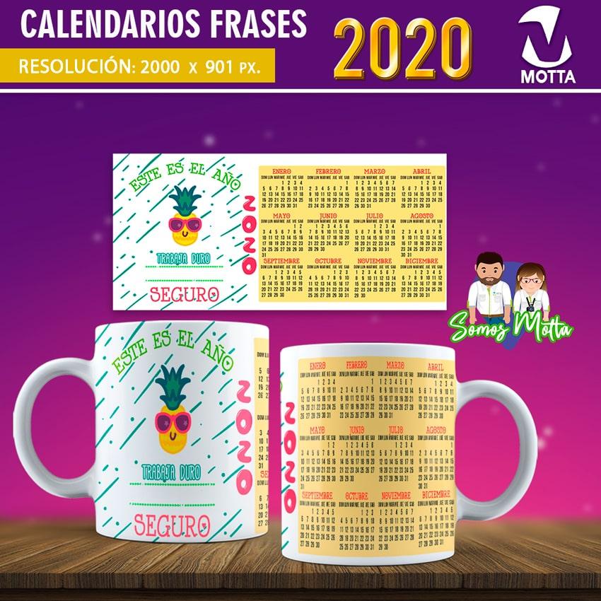 Diseños Taza Calendario 2020 Con Frases De Motivación
