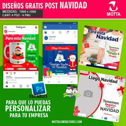 DISEÑOS GRATIS PARA HACER PUBLICIDAD EN NAVIDAD