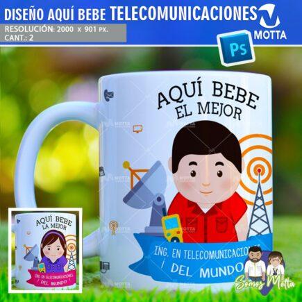 PLANTILLAS AQUÍ TOMA | AQUÍ BEBE INGENIERO TELECOMUNICACIONES