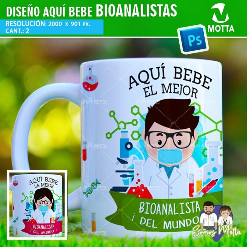 PLANTILLAS TAZAS AQUÍ TOMA | AQUÍ BEBE BIOANALISTA