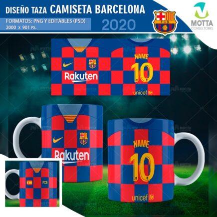 DISEÑO PARA SUBLIMAR TAZA CAMISETA DEL BARCELONA FC