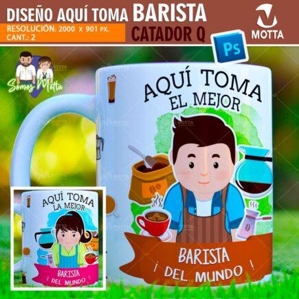 PLANTILLAS TAZAS AQUÍ TOMA EL MEJOR BARISTA