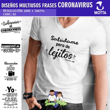 DISEÑOS PARA SUBLIMAR CAMISETAS COVID-19 DESCARGA GRATIS