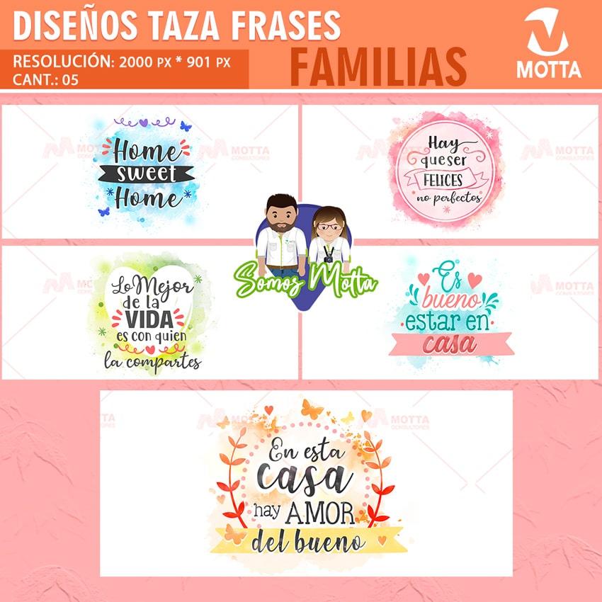 DISEÑO PARA SUBLIMAR TAZAS GRATIS CON FRASES DE HOGAR