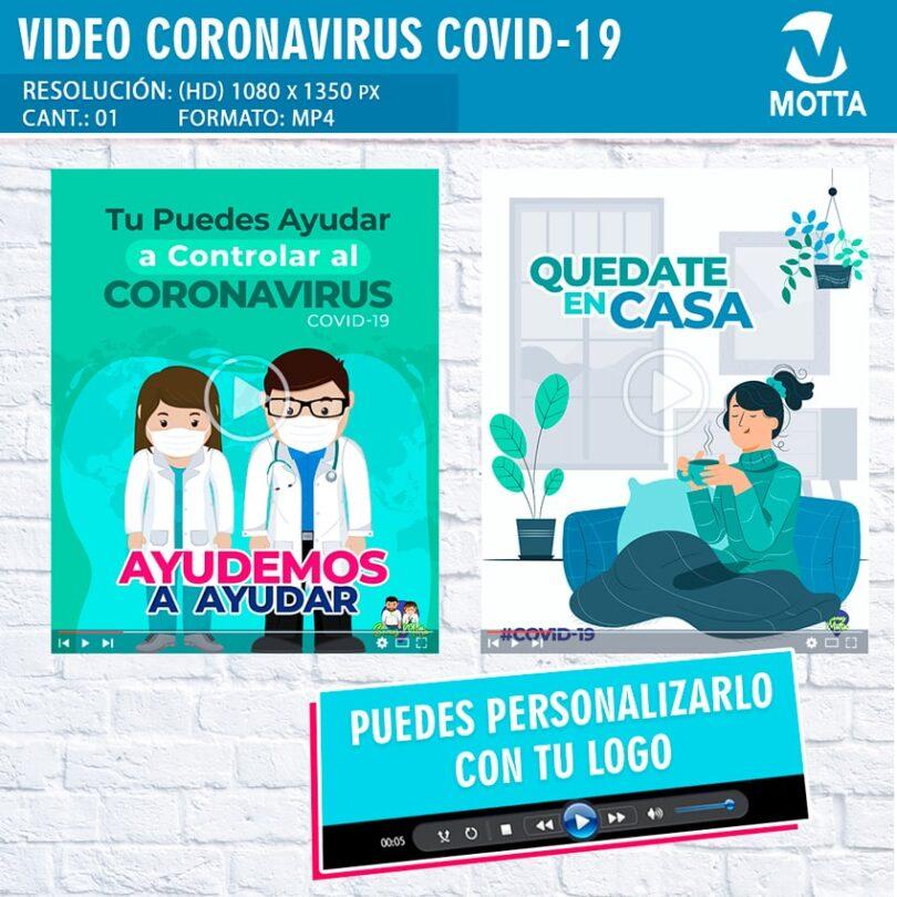 VÍDEO PROMOCIONAL CORONAVIRUS COVID-19 PERSONALIZADO CON SU LOGO