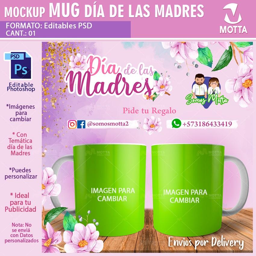 MOCKUP VISTAS PREVIAS DE TAZAS DÍA DE LA MADRE GRATIS
