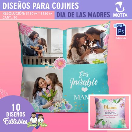 DISEÑOS PARA COJINES Y ALMOHADAS DÍA DE LAS MADRES