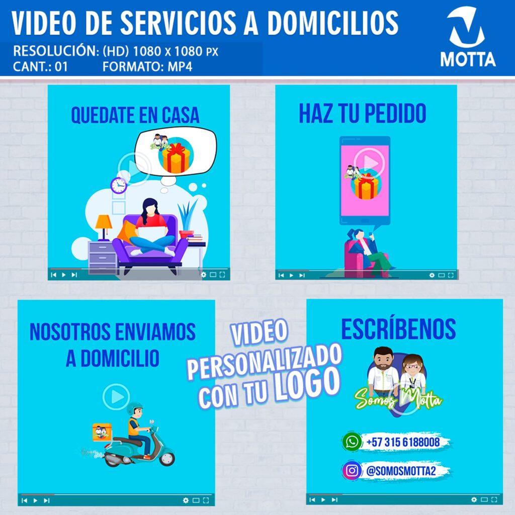VÍDEO PARA HACER PUBLICIDAD DE ENVIÓ A DOMICILIO