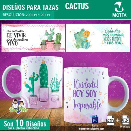 DISEÑOS PARA SUBLIMAR TAZAS DE CACTUS