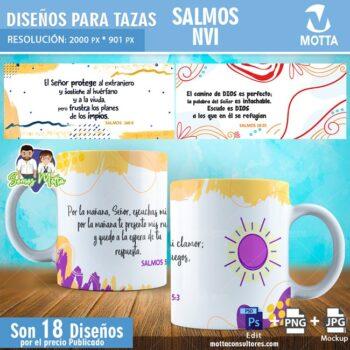 18 DISEÑOS PARA TAZAS CON SALMOS