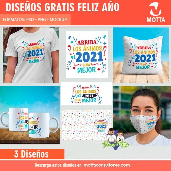 PLANTILLAS GRATIS AÑO NUEVO 2021