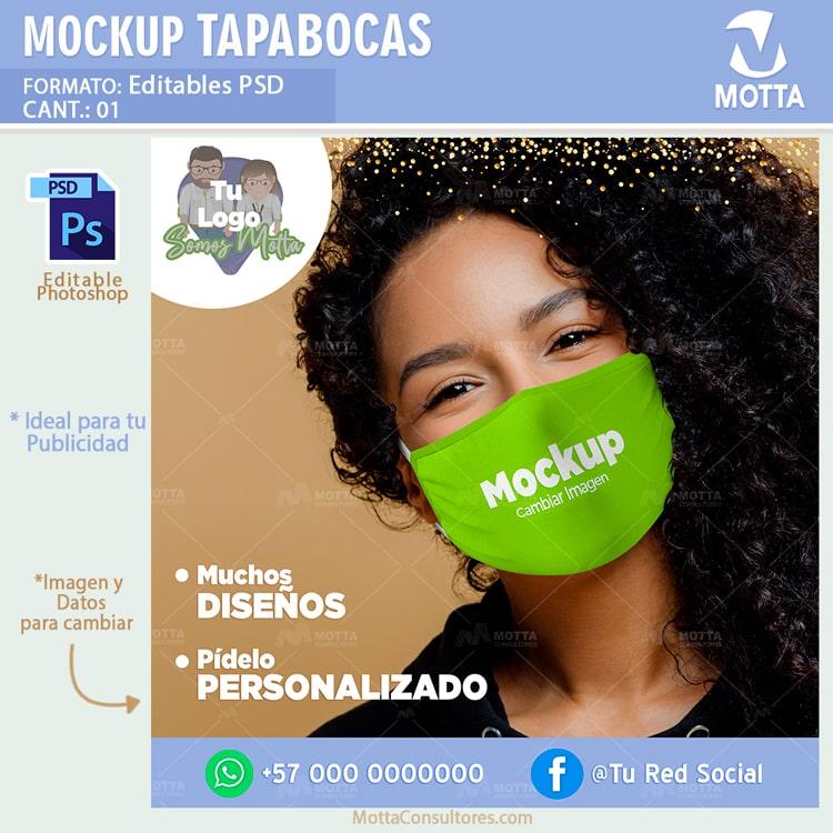 MOCKUP MAQUETA DE TAPABOCAS