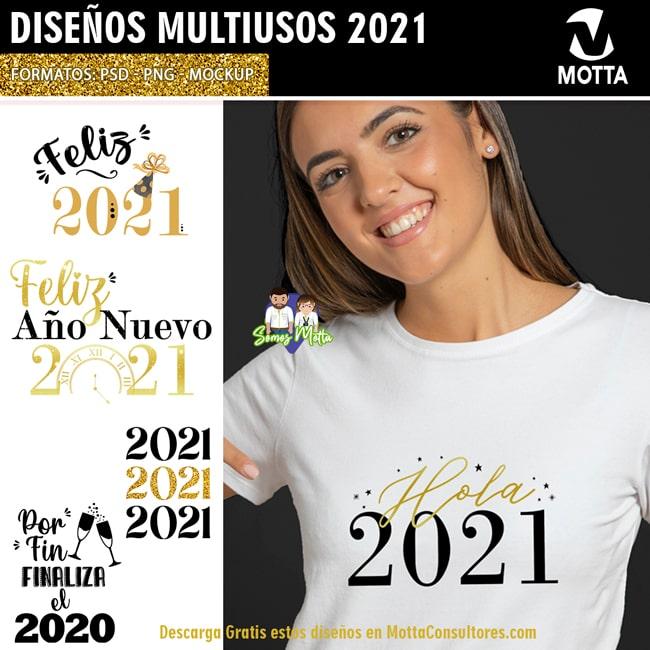 DISEÑOS GRATIS AÑO NUEVO 2021