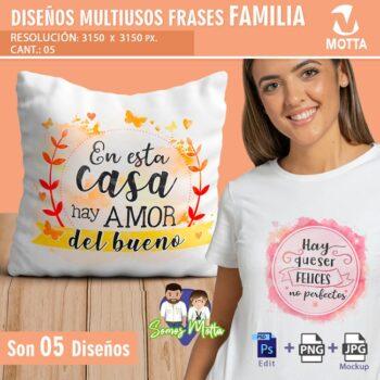 PLANTILLAS PARA COJINES GRATIS CON FRASES FAMILIA