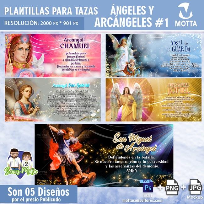 PLANTILLAS PARA TAZAS ANGELES Y ARCANGELES